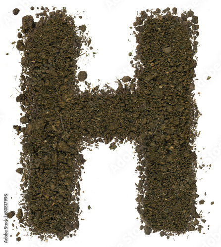 Alphabet of soil block capitals letter h stock photo for Soil 5 letters