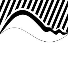 Decorative wavy background with narrow oblique stripes