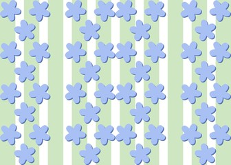 Seamless decorative flax flower bluish pattern