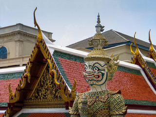 Die Statue des Palastes von Bangkok