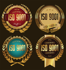 ISO 9001 certified golden badge sollection