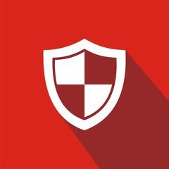 Icono escudo rojo sombra