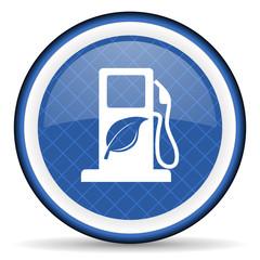 biofuel blue icon bio fuel sign