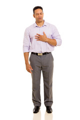 mid age man having chest pain