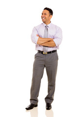 mature business man with arms folded