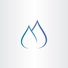 drops of water gas flame icon