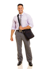 mid age businessman carrying bag