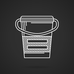 White line vector icon for meal replacement