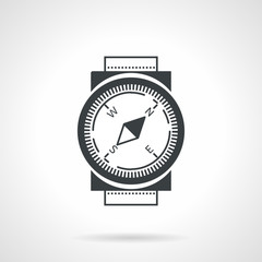 Black vector icon for compass