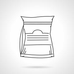 Black line vector icon for glutamine supplements