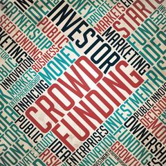 Crowd Funding Background - Retro Wordcloud.