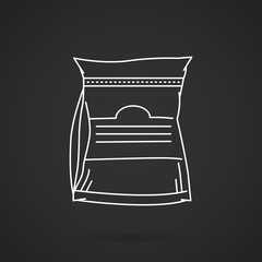 White line vector icon for glutamine supplements