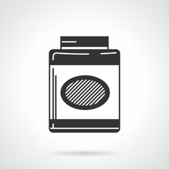 Black vector icon for gainer supplements