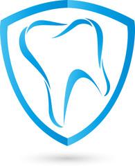 Zahn, Logo, Zahnarzt, Wappen, Schild