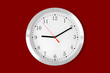 classic clock on red background - 80825551