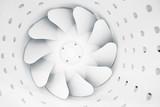 fan blades of modern ventilation system