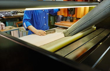 Image of manufacturing insoles for shoes