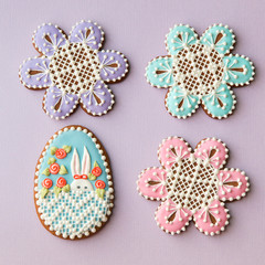 Home-baked and decorated Easter cookies