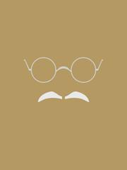 Eyeglasses and Gray Mustache Symbol
