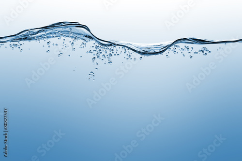 Water and air bubbles over white background - 80827537