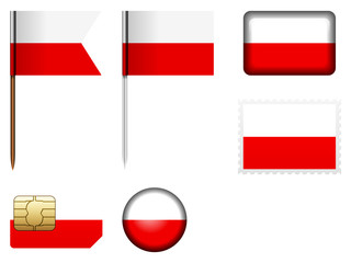Poland flag set