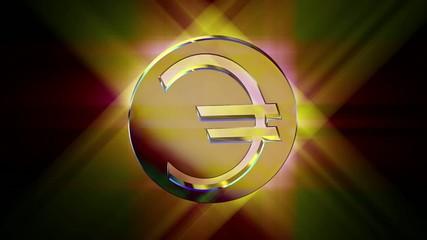 golden euro currency symbol money