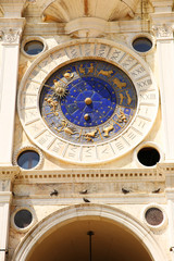 Astronomical Clock Tower, Details. Venice, Italy