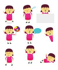 Girl cartoon mascot
