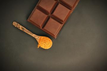 Chocolate with cinnamon