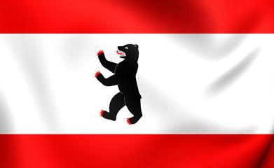 Flag of Berlin, Germany.