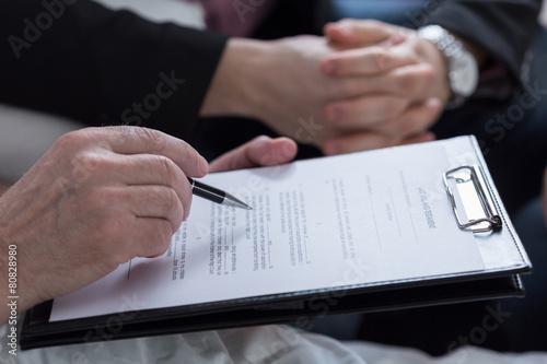 Leinwanddruck Bild Last will and testament document