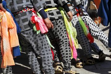 山車祭り、引き手の男達