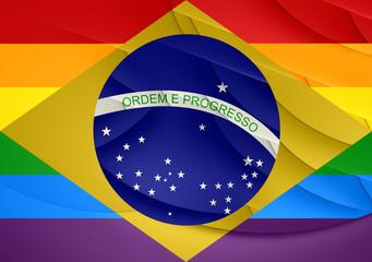Brazil Gay Flag