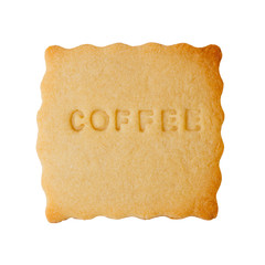Cookie with COFFEE sign