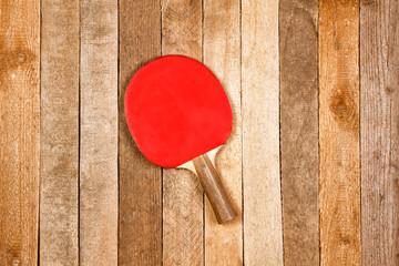 Ping pong paddle and ball