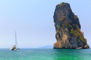 sailboat in island