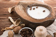 coffee beans, Spa stuff with candles in coconut