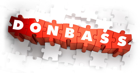 Donbass - White Word on Red Puzzles.