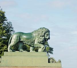 Lion sculpture at the Admiralty embankment, St. Petersburg