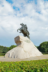 Monument of Russian emperor Peter the Great, St. Petersburg