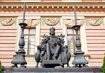 Monument to the Russian emperor Paul the First, St. Petersburg