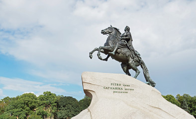 Monument to the Russian tsar Peter the Great, St. Petersburg