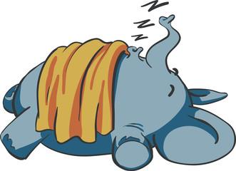 sleeping baby elephant