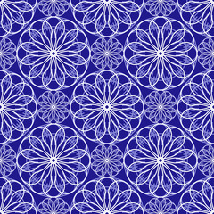 Abstract floral spirograph pattern
