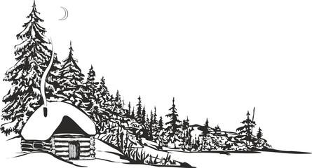 Hunting hut.