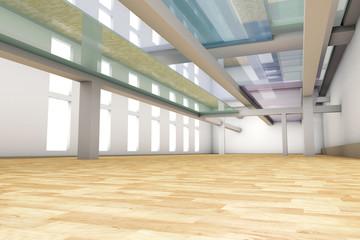 Empty apartment interior.