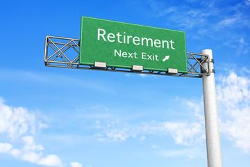 Highway Sign - Retirement