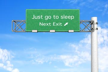 Highway Sign - Sleep