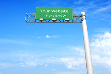 Highway Sign - Your Website.