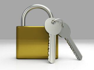 Padlock with Keys.